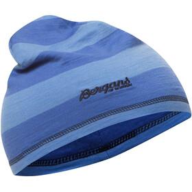 Bergans Fjellrapp Beanie Kids Sky Blue Striped